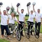 Charity cycle team from from McCarthy and Stone's Colney Heath office