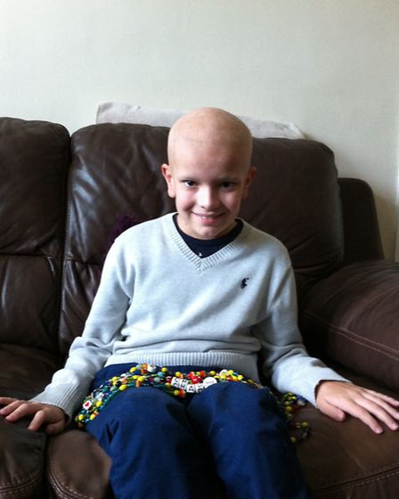 Photo from two years ago, showing brave Chad Martindale of Sandridge, St Albans, who has been fighti