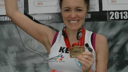 Kelly Galvin at the London Marathon in 2013.