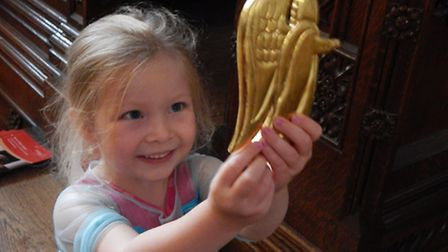 Isabella Compton at the Angels Discovery Morning