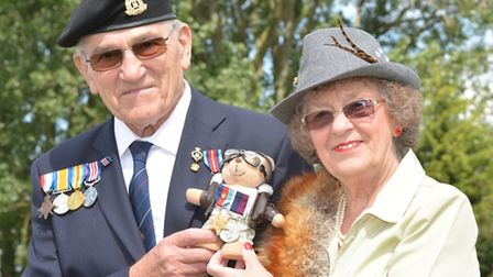 Bluntisham and Colne celebration to park end of WW2, brother and sister-in-law Frank Day, and Margar