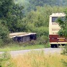 A man from Royston has admitted falling asleep at the wheel before his coach crashed into a ditch. P