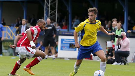 Sam Corcoran in action against Ebbsfleet United. Picture: Leigh Page
