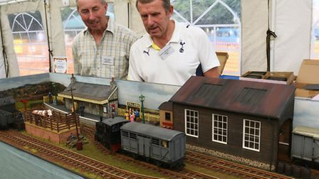 Ramsey Rural Museum, Model Railway Day, Glyn Bennett, and David Wright, with their Oxlode Station,