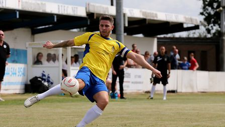 Lee Chappell in action against Billericay Town. Picture: Leigh Page