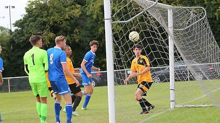Tom Smith opens the scoring. Picture: Jim Whittamore