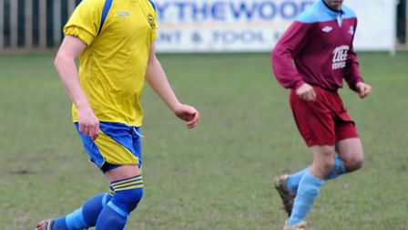 Jimmy Hill made his first appearance for Harpenden Town since re-joining the club. Picture: Kevin Li