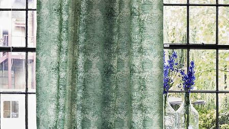 Liberty Art Fabrics, Rose May Linen Union in Jade, available from Liberty. PA Photo/Handout