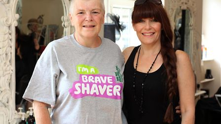 Gillian Robinson with Lisa Waller, owner of Bliss Hair