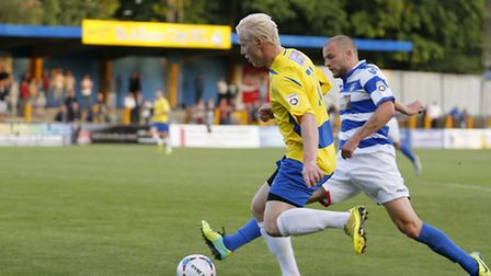 Lewis Hilliard stretching the Oxford defence. Picture: Leigh Page