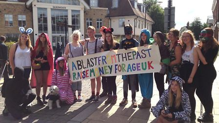 Group of NCS youngers are taking on a walk from Huntingdon to Cambridge in aid of Age UK