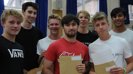 Sir John Lawes School pupils in Harpenden celebrate their A Level results