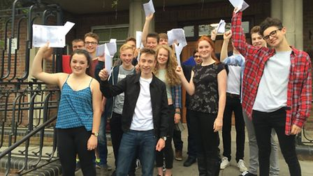 Verulam School pupils celebrate their A-Level results in St Albans