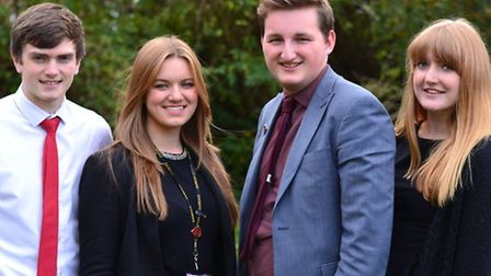 The Townsend Head students; William Gower, Annie Osborne, Haidan Smith and Megan Glass all achieved