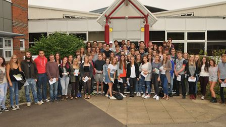 Sandringham School year 13 students with their A Level results