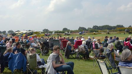 Spectators look on at last year's Little Gransden Air Show