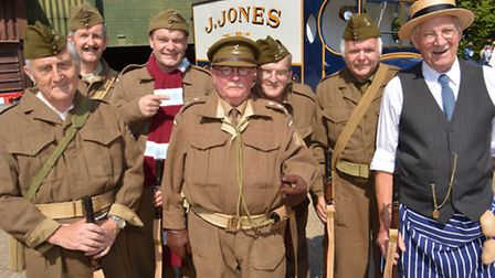 Ramsey 40s Weekend, the team from the Dads Army Museum, Thetford,