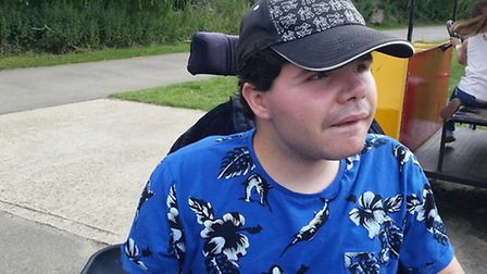 Dominic was born with Duchenne muscular dystrophy