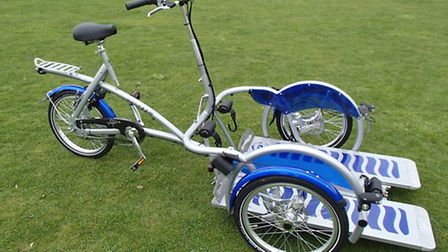 The specially adapted bikes which are becoming increasinly popular at Hinchingbrooke County Park.