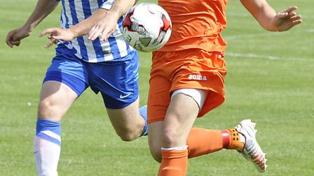 Striker Danny Watson is one of several exciting new St Ives Town signings. Picture: HELEN DRAKE