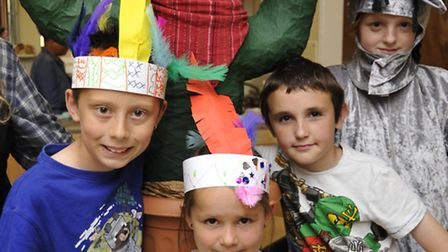 The Wild West Holiday Club, at the Medway Centre, Huntingdon, (l-r) Brandon, Chole, Josh, and Ben, w