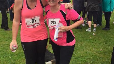 St Albans Race for Life - Sue Wybrow and Karen Crowder-James