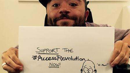 Dom Hyams wants everyone to be part of the #AccessRevolution