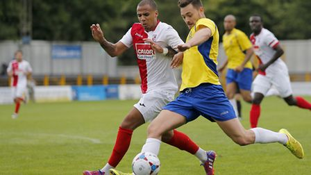 Louie Theophanous prepares to have a shot at goal. Picture: Leigh Page