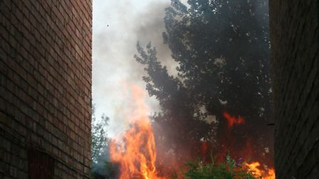 Shed fire in St Neots