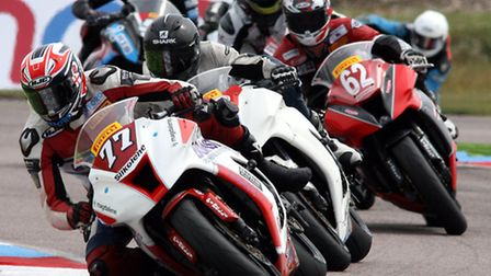 Jon Railton in action in the latest round of the Pirelli National Superstock 1000 Championship at Th