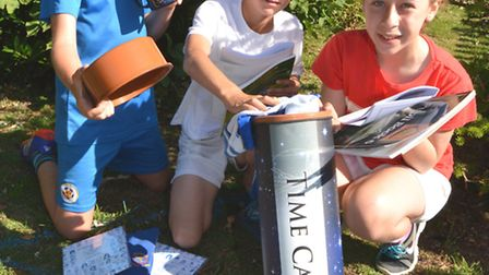Westfield School, St Ives, are planting a time capsule, to mark their 50th anniversary, Year 6 pupil
