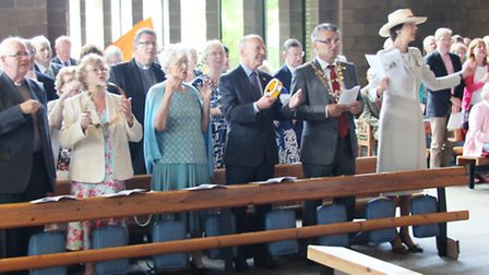 Special guests including the Mayor of St Albans and Countess Verulam attended the service