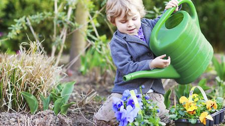 A young boy in a garden. See PA Feature