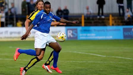 Michael Malcolm controls the ball. Picture: Leigh Page