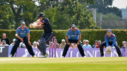 Sam Robson bats for Middlesex