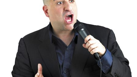 Omid Djalili in St Albans for Sky 1 show, Lucky Man