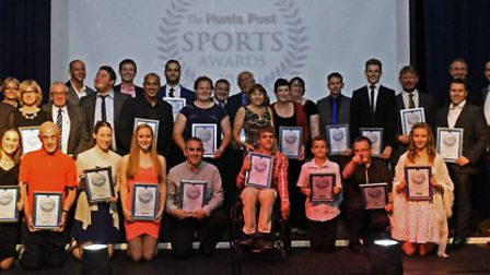 The winners and finalists in the Hunts Post Sports Awards 2015.