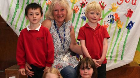 Pupils at Priory Park Infants School said goodbye to teaching assistant Brenda Hackett