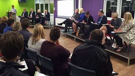 Over 200 people attended the meeting on secondary school places in Harpenden