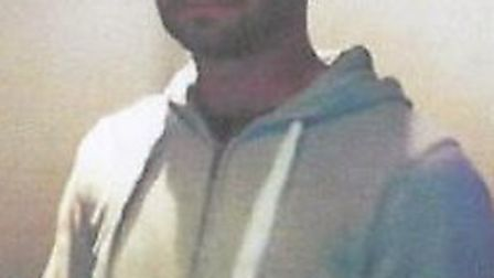 The image of a man wanted in connection with a glass attack at Club Veeda, St Albans.