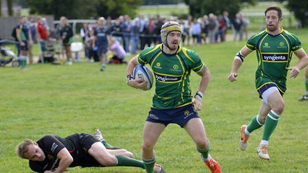 Tom Morgan scored two tries as Huntingdon powered past Paviors. Pictures: DUNCAN LAMONT