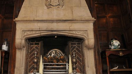 The fireplace in the drawing room