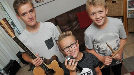 Musical brothers Josh, 15, Zac, 10 and Finn Pile, 12 have written a song to raise money for Syrian r