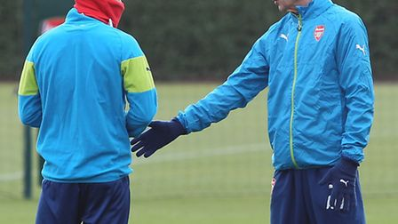 Arsène Wenger spoke to the press in London Colney at Arsenal's training grounds