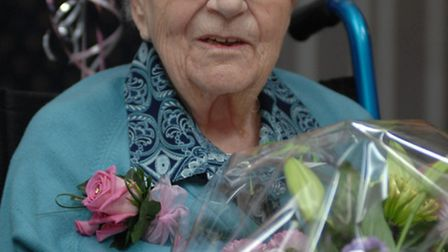Norah Taylor, pictured on her 100th birthday.