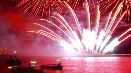 Display in Plymouth put on by British Fireworks Champions, St Albans based Fantastic Fireworks