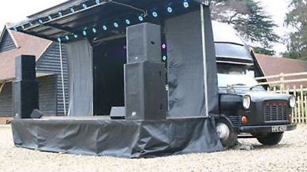 The busking stage at Royston Arts Festival.