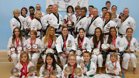 Members of the Huntingdon and St Ives Tang Soo Do clubs who competed at the European Championships.