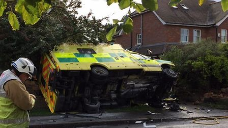 An ambulance collided with a car on Watford Road St Albans