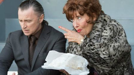 Robert Carlyle and Emma Thompson in The Legend of Barney Thompson